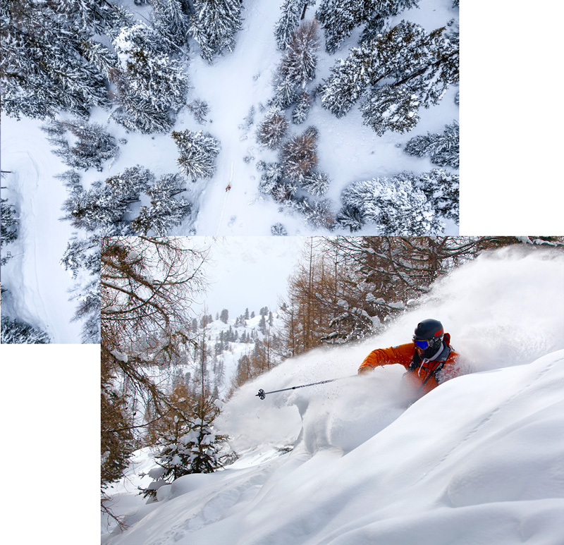 freeride saas-fee getting-deep-powder